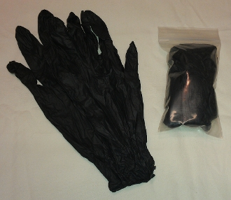 5-Pack of Black Frisk/Exam Gloves - L